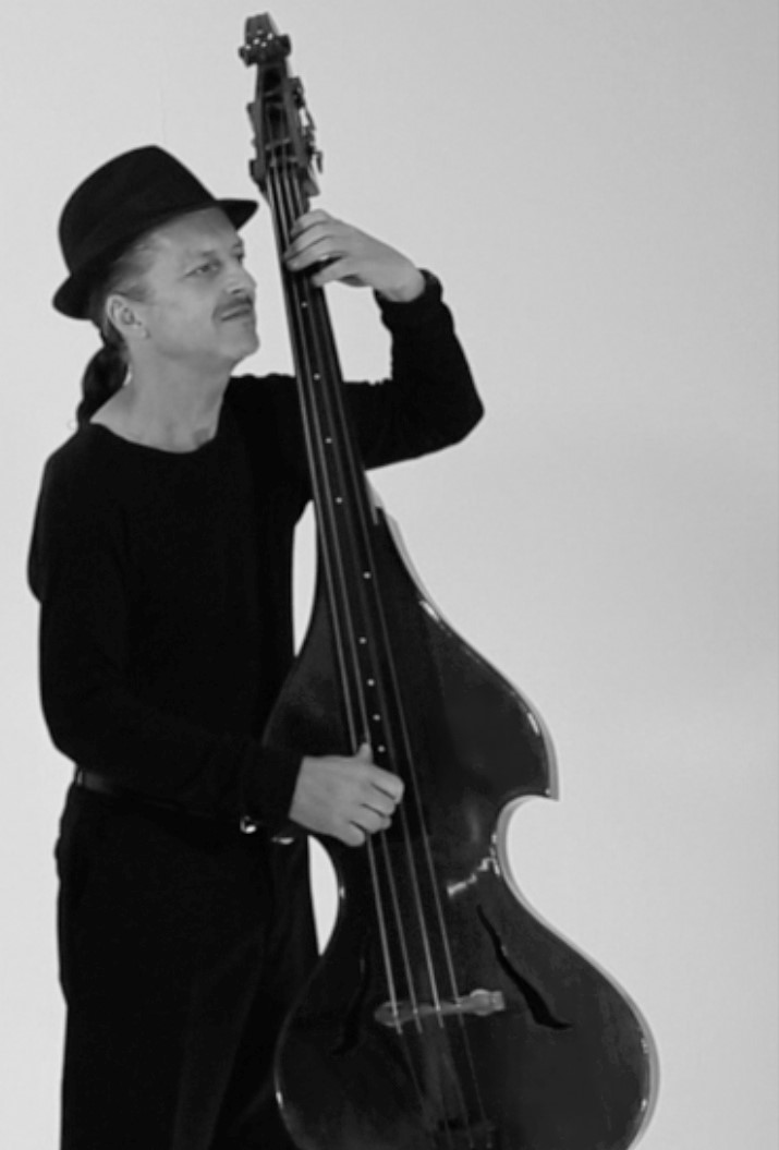 Clive plays upright bass